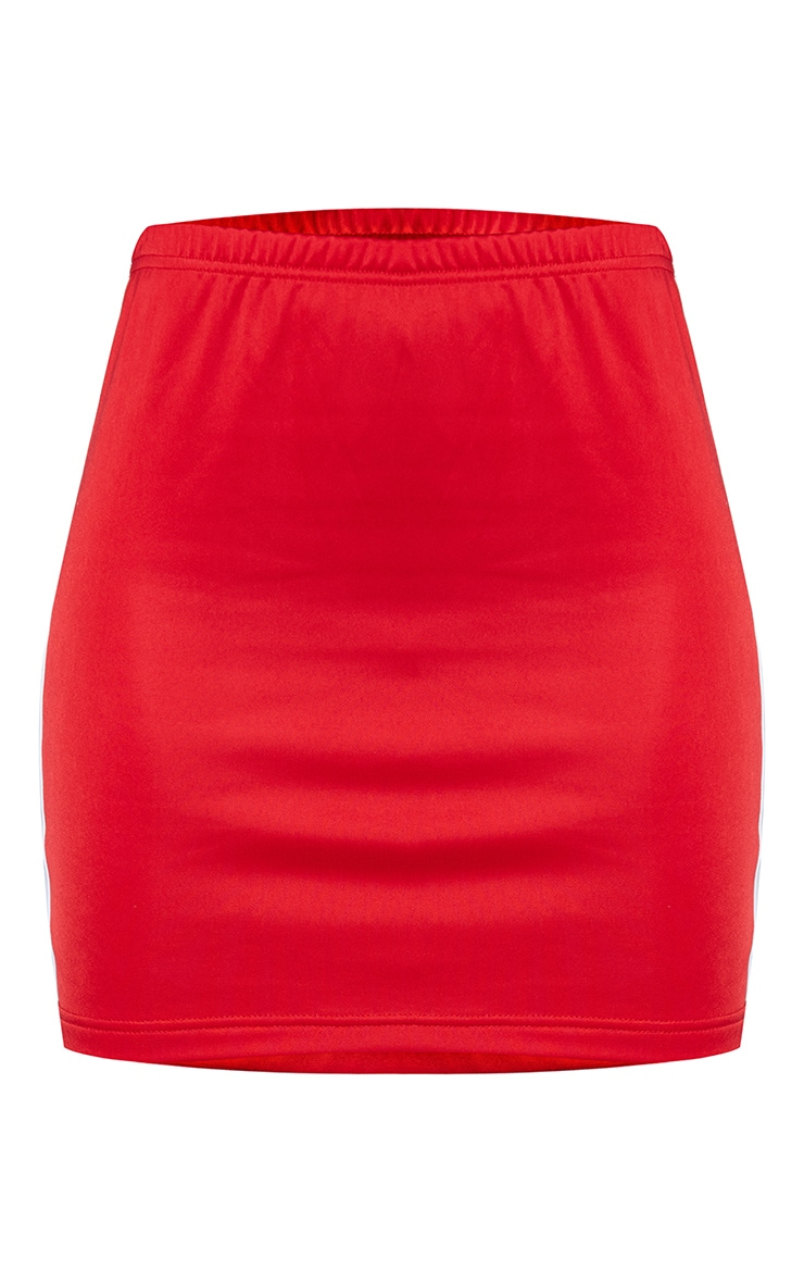 Red Sports Stripe Bodycon Skirt 7