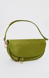 Olive Satin Mini Shoulder Bag 2