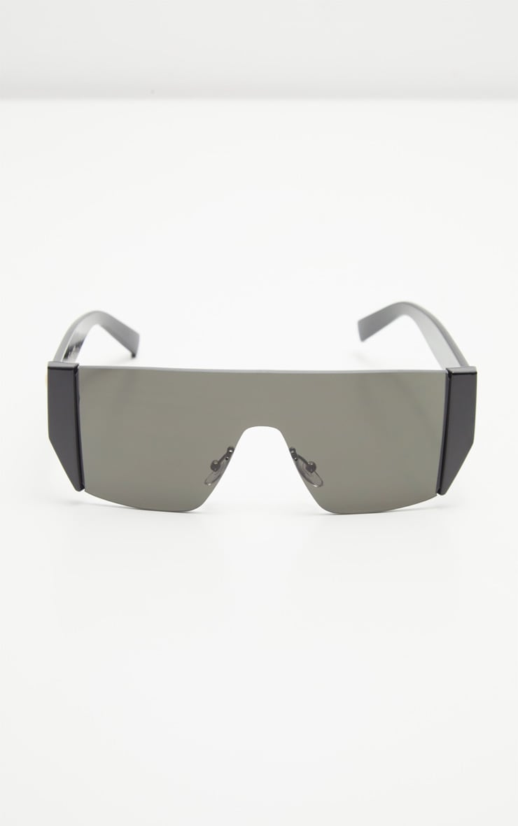 Black Flat Top Statement Sunglasses 3