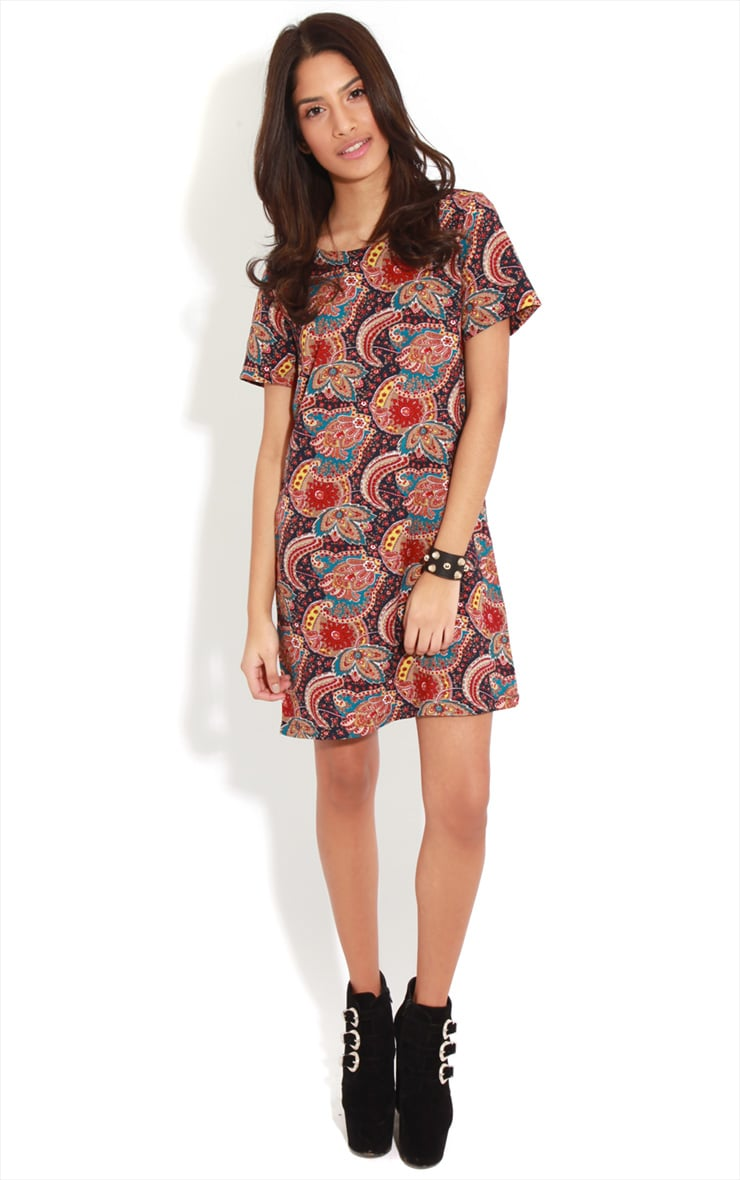 Nila Navy Paisley Shift Dress 3