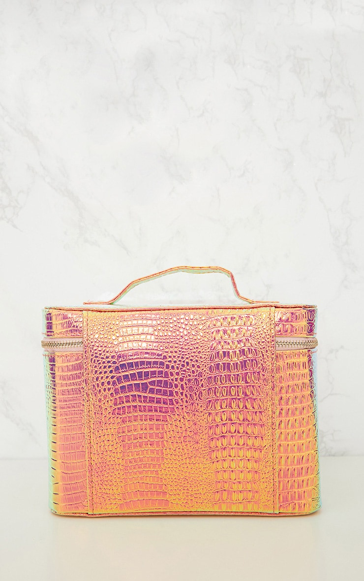 PRETTYLITTLETHING Holographic Vanity Case 2