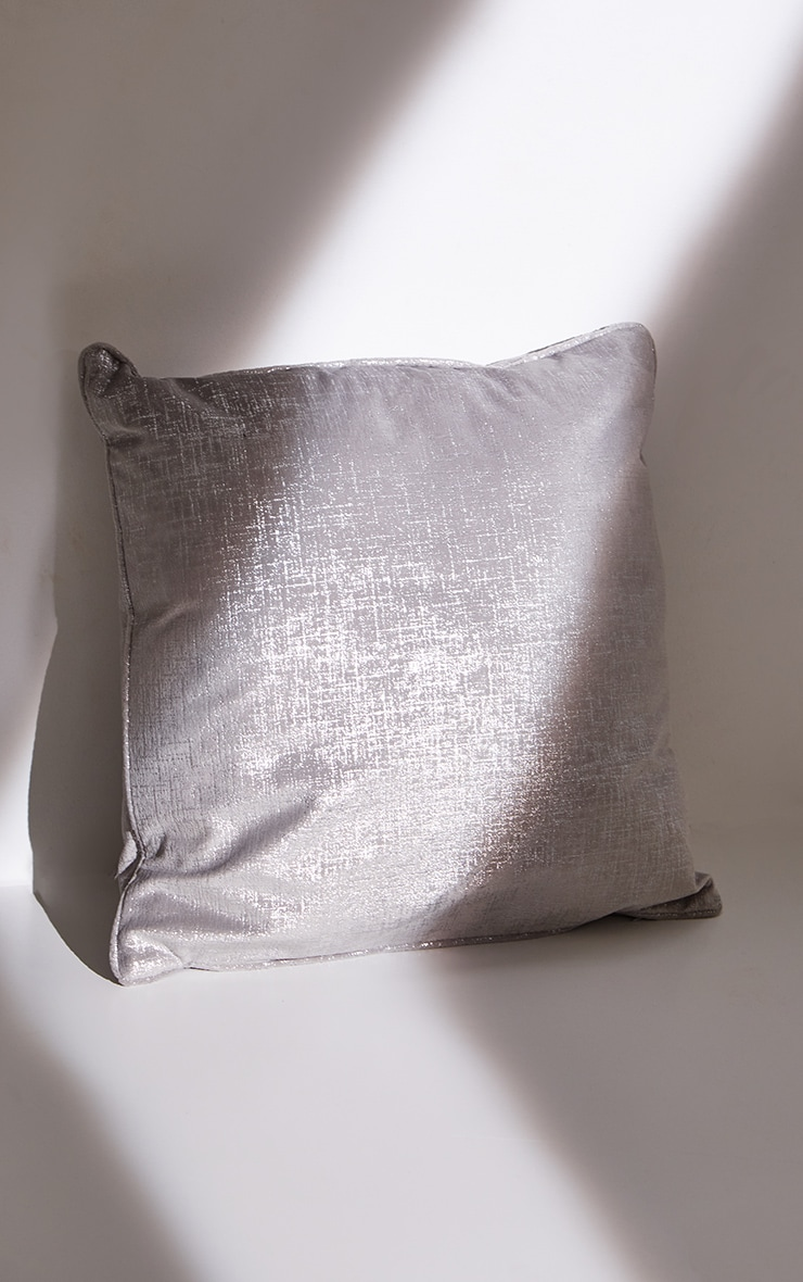 Silver Large Filled Cushion 4