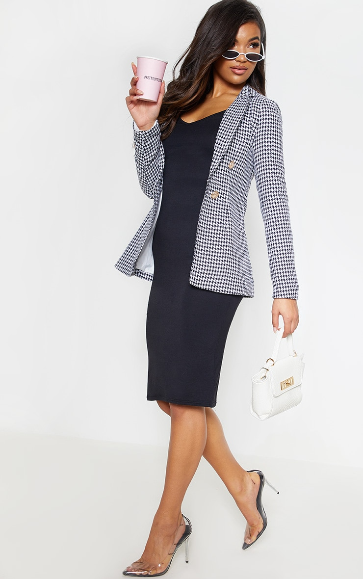 Black Houndstooth Blazer 5