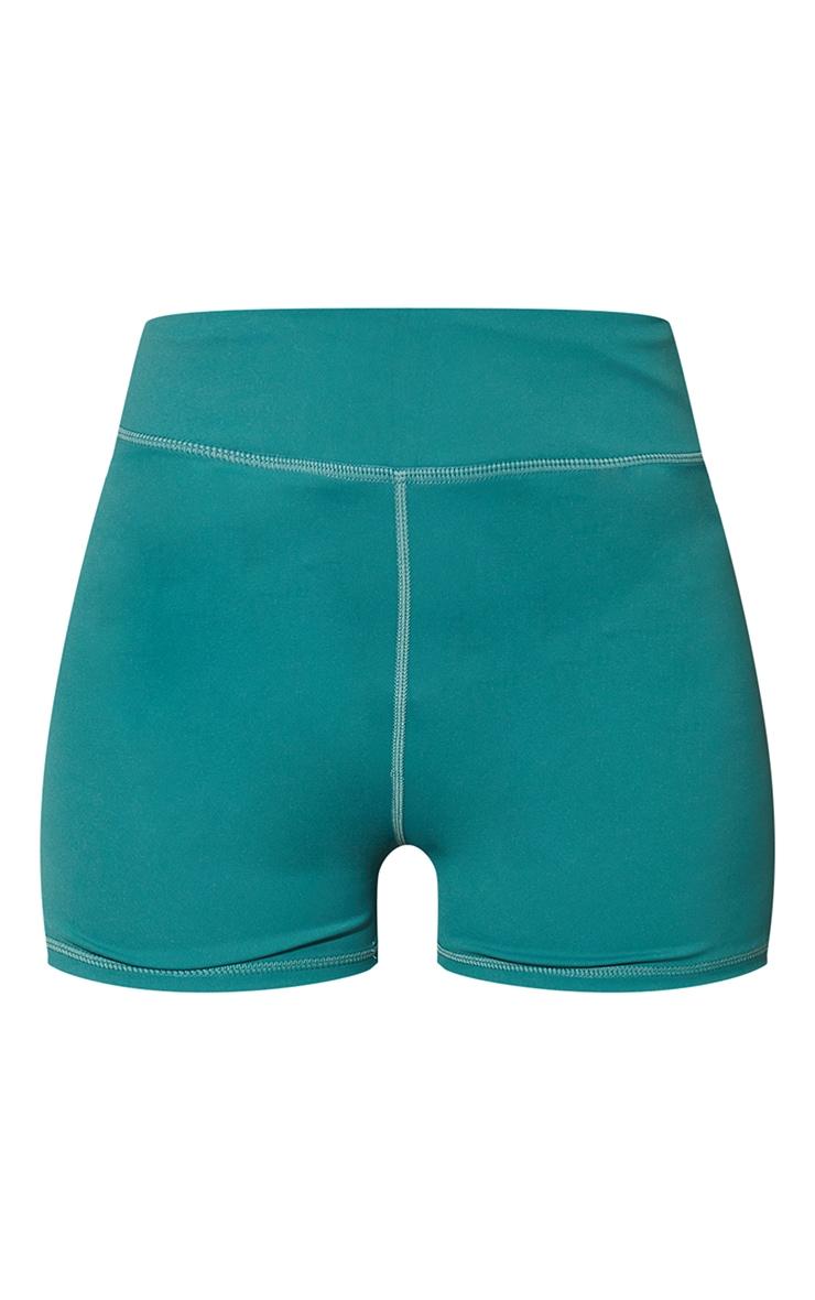 Green Sport Sculpt Luxe Booty Shorts 6