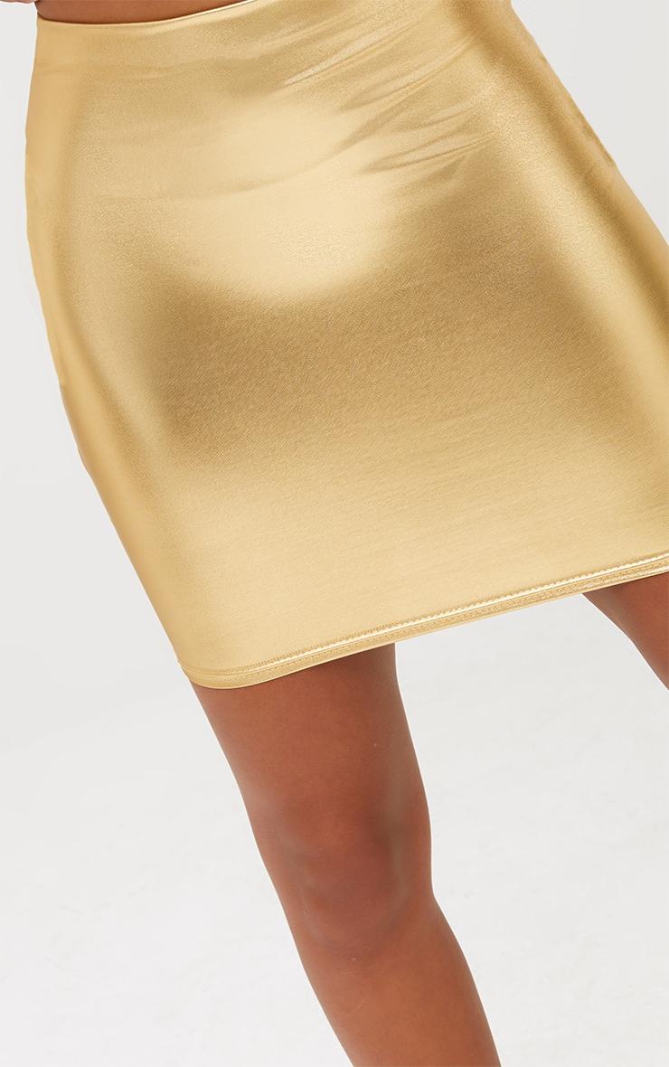 Petite Gold Foil Mini Skirt 6