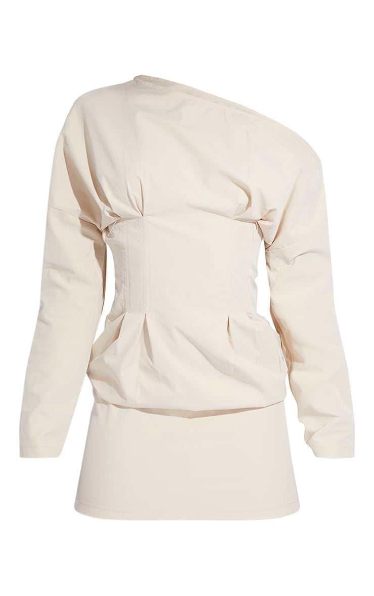 Tall Stone Detail Corset Long Sleeve Dress 5