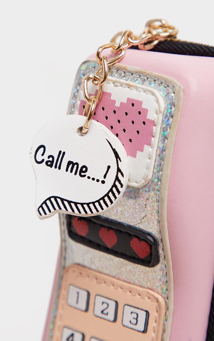 Sac rose en forme de téléphone 4
