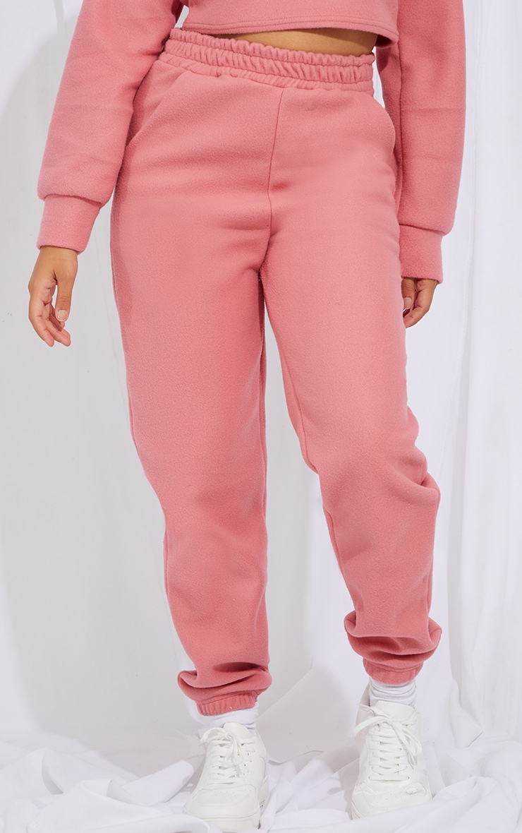 Petite Baby Pink Brushed Sweat Oversized Joggers 2