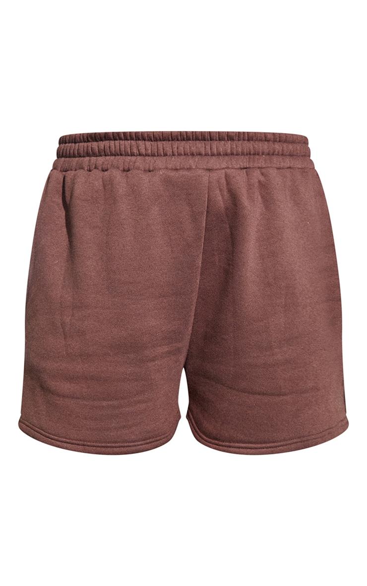 RENEW PRETTYLITTLETHING Plus Chocolate Sweat Pocket Shorts 5