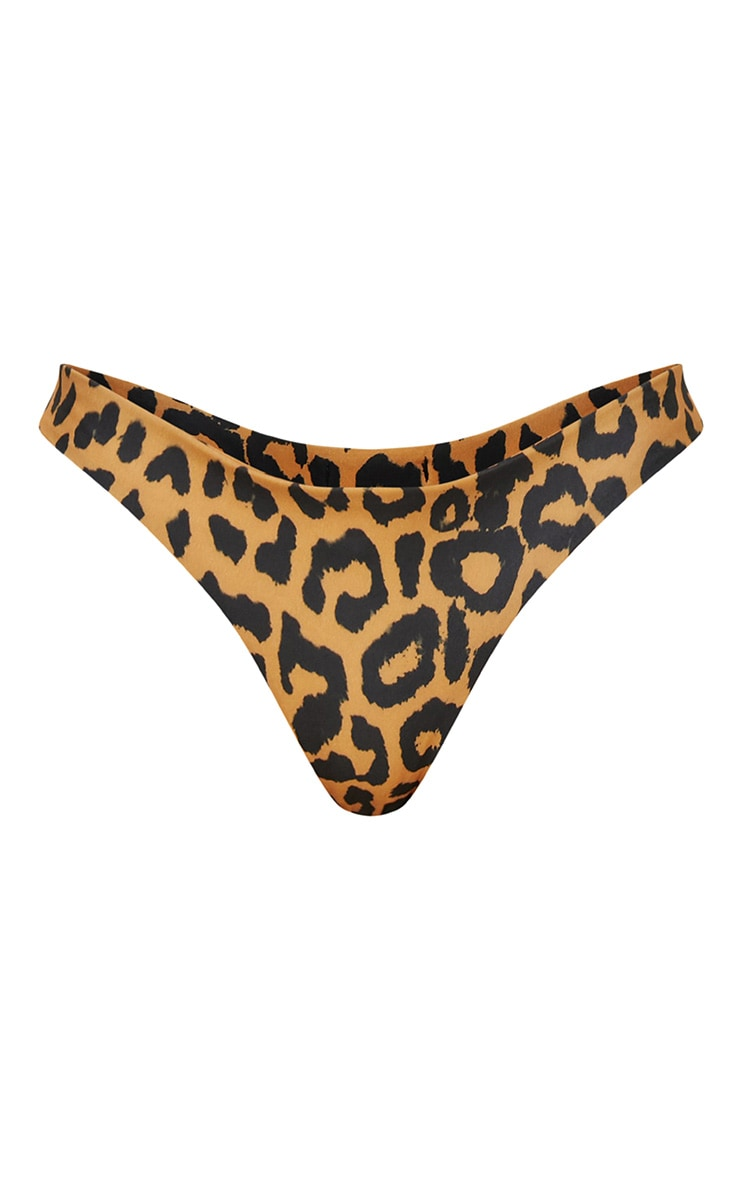 Orange Cheetah Print Bikini Bottom 3