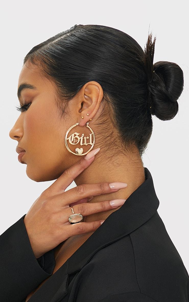 Gold Babygirl Hoop Earrings 1