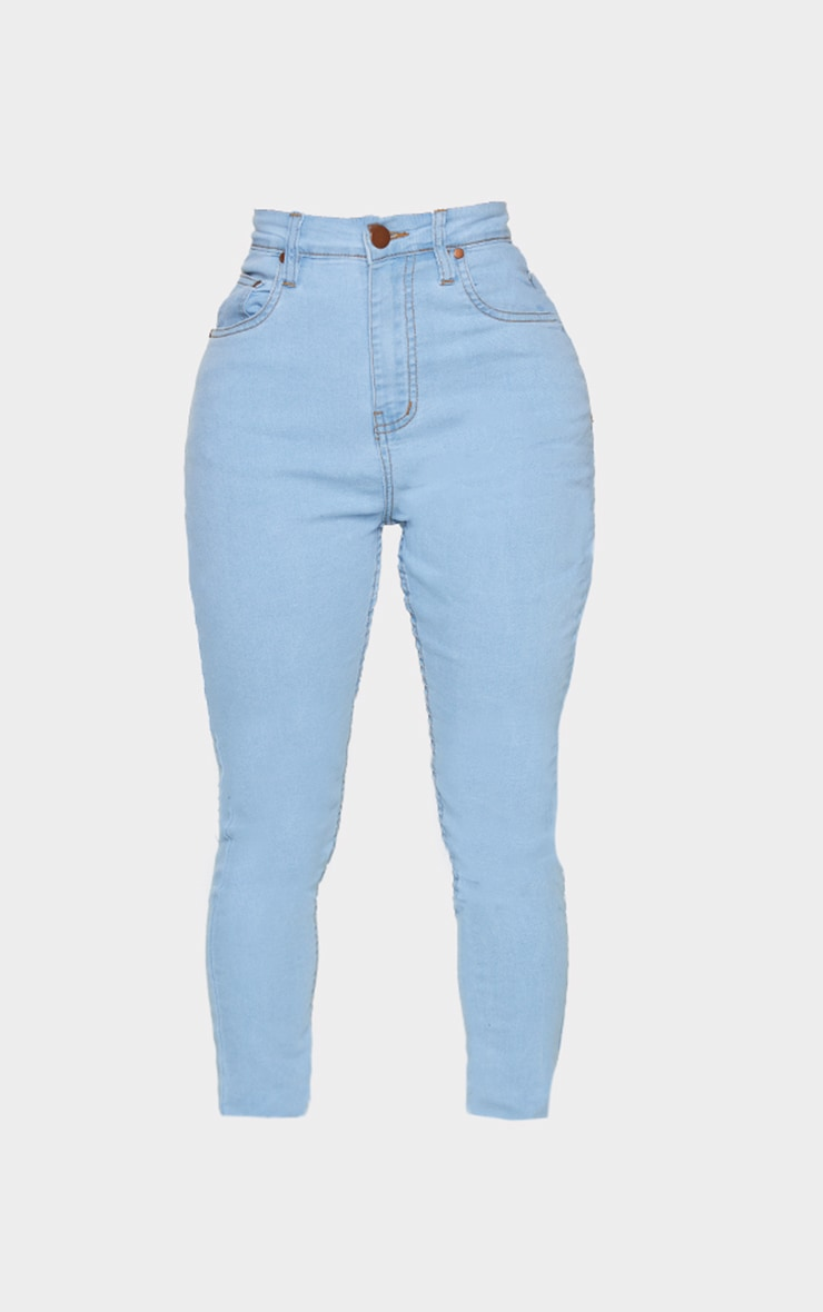 Shape Light Wash High Waist Super Stretch Skinny Jeans 5