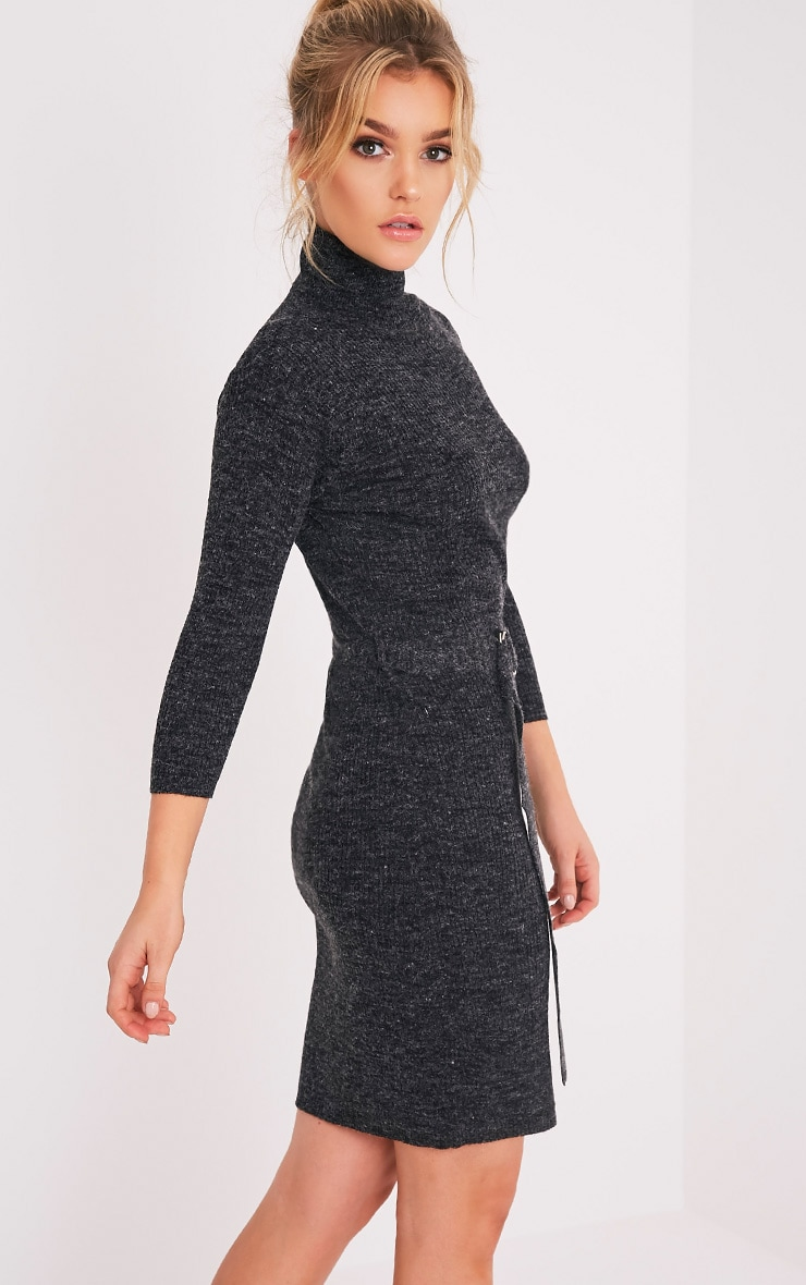Marla Black D Ring Knitted Jumper Dress 4