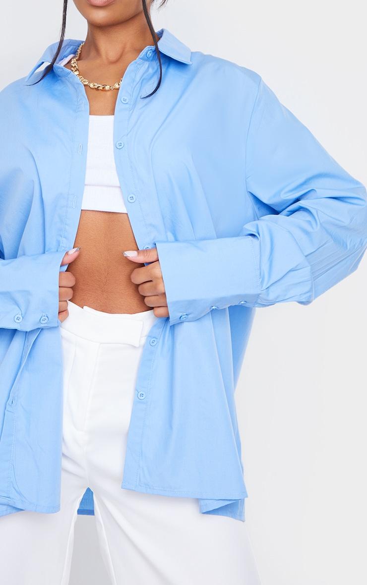 Cornflower Blue Oversized Cuff Shirt 4