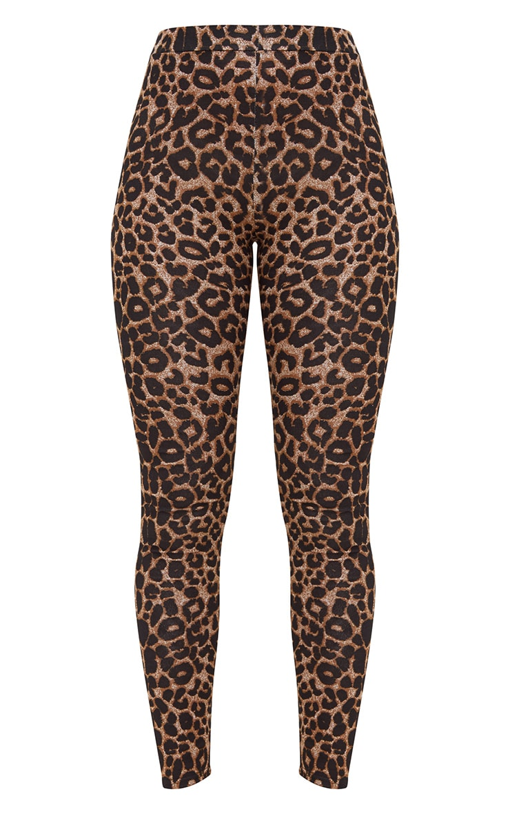 Brown Leopard Print Leggings 3