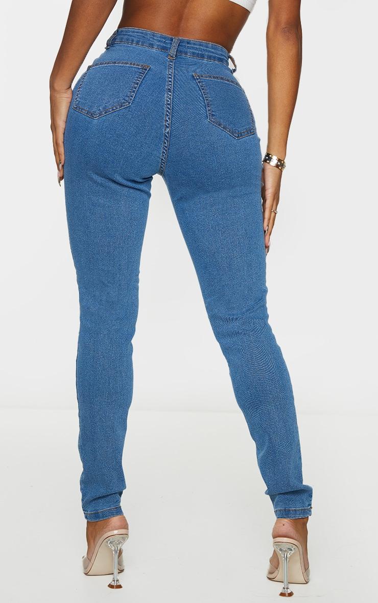 Shape Mid Wash Disco Skinny Jeans 3