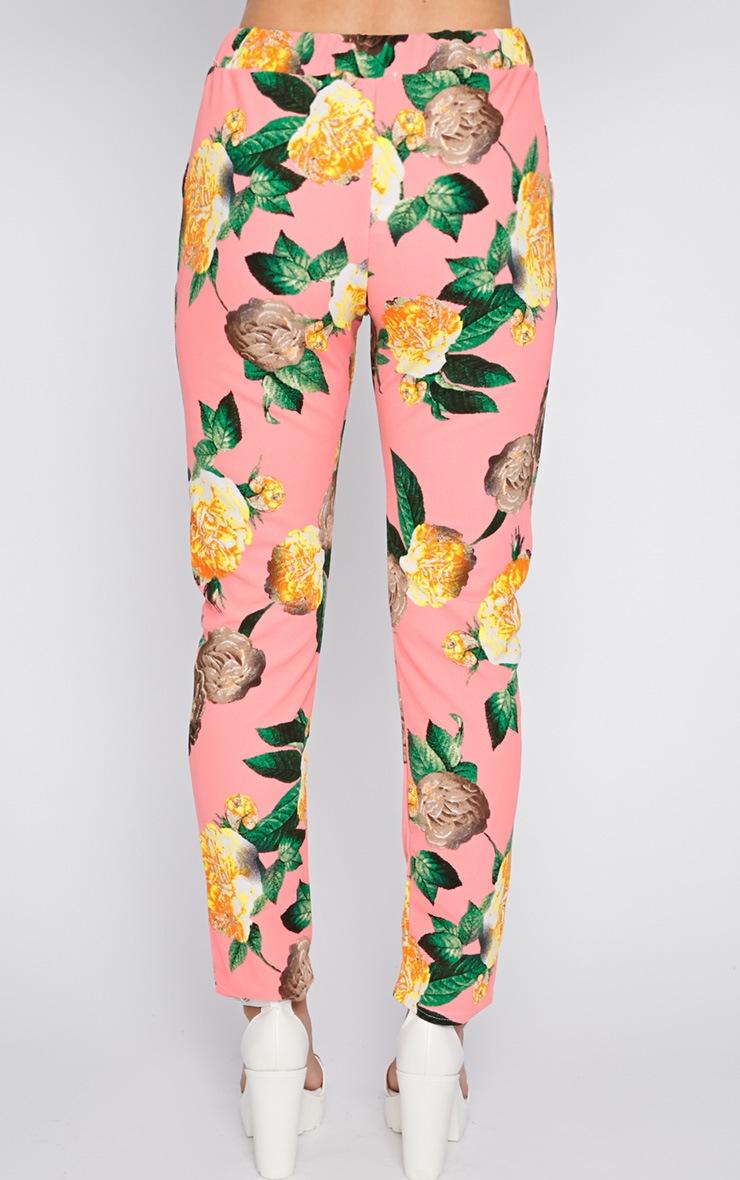 Kiera Pink Floral Print Trouser  2