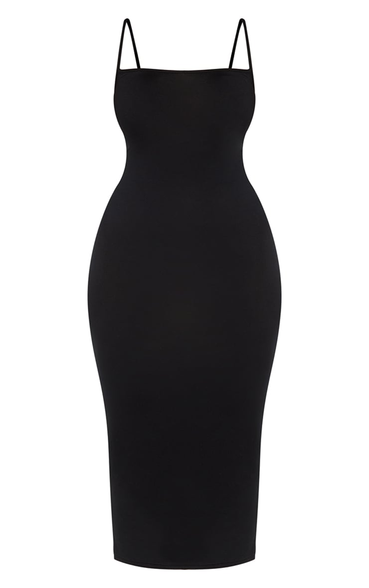 Plus Black Strappy Jersey Maxi Dress 6