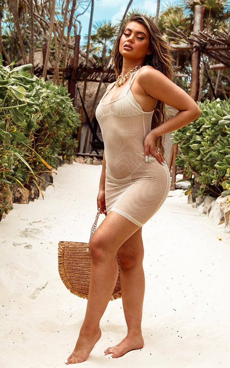 Natural Net Textured Beach Dress 3