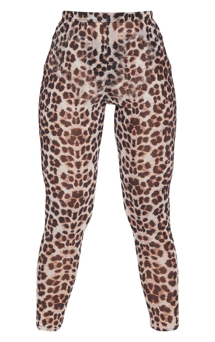 Leopard Mesh Leggings 5
