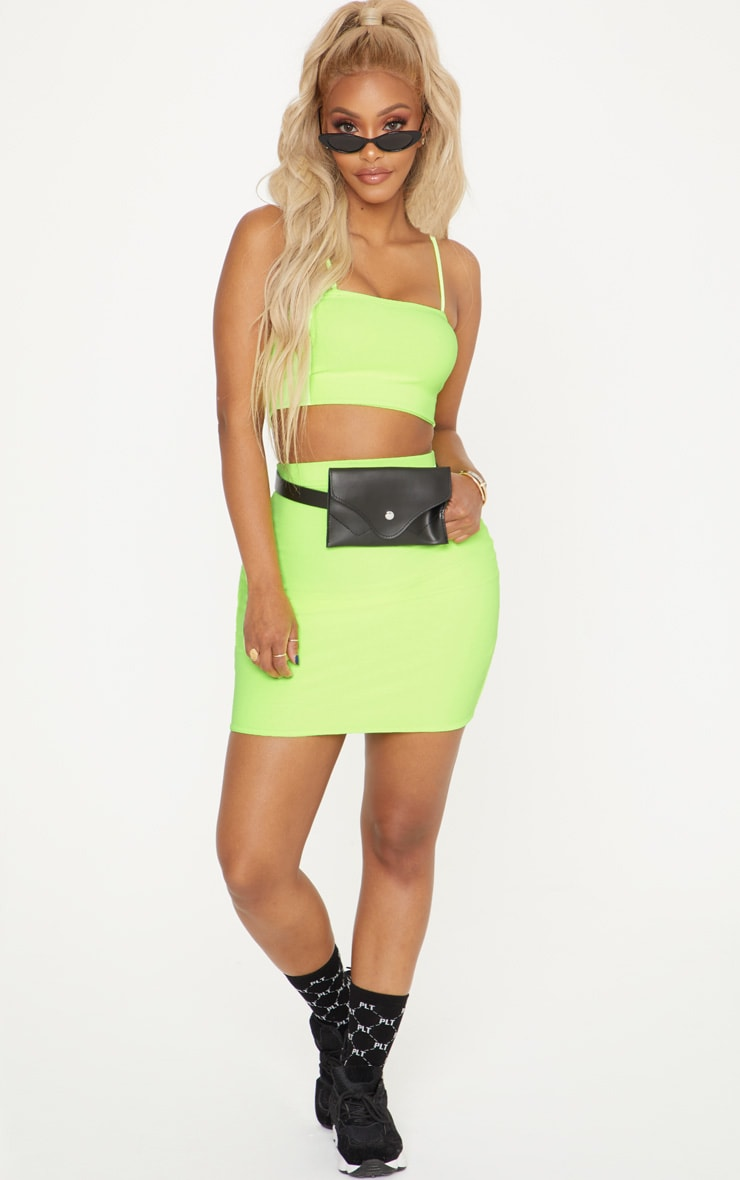 Shape Neon Yellow Strappy Crop Top 4