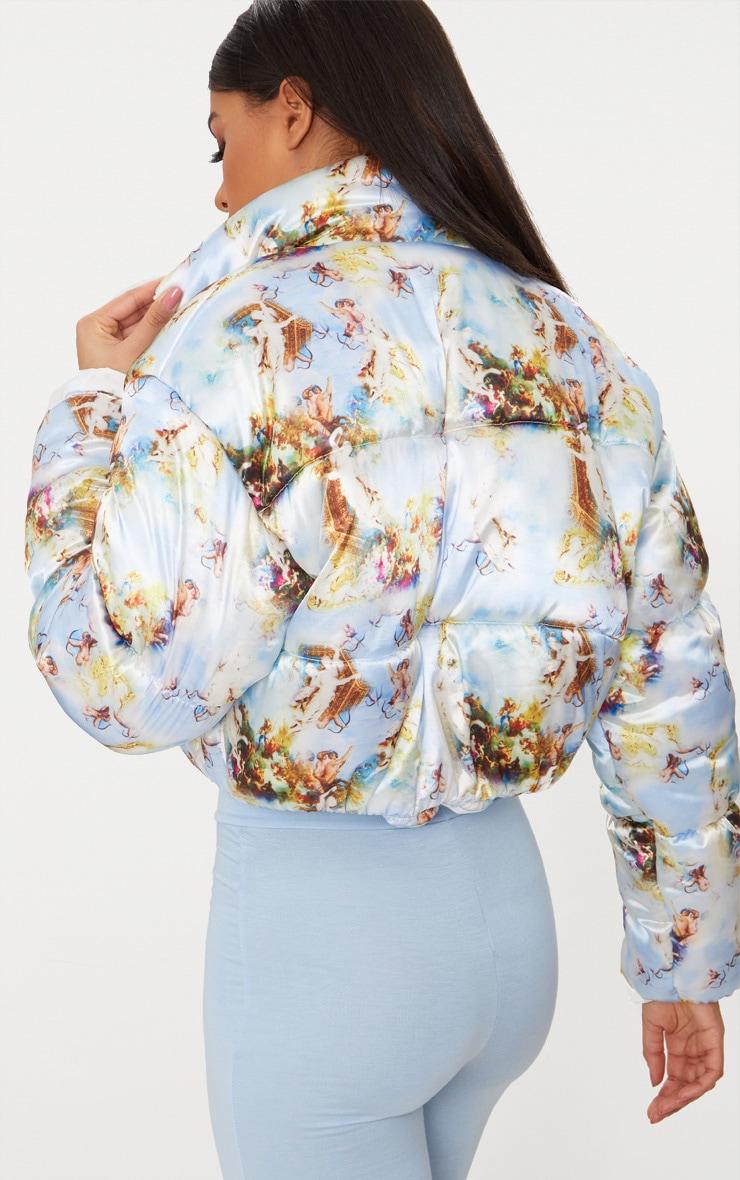 Renaissance Printed Satin Puffer Jacket 2