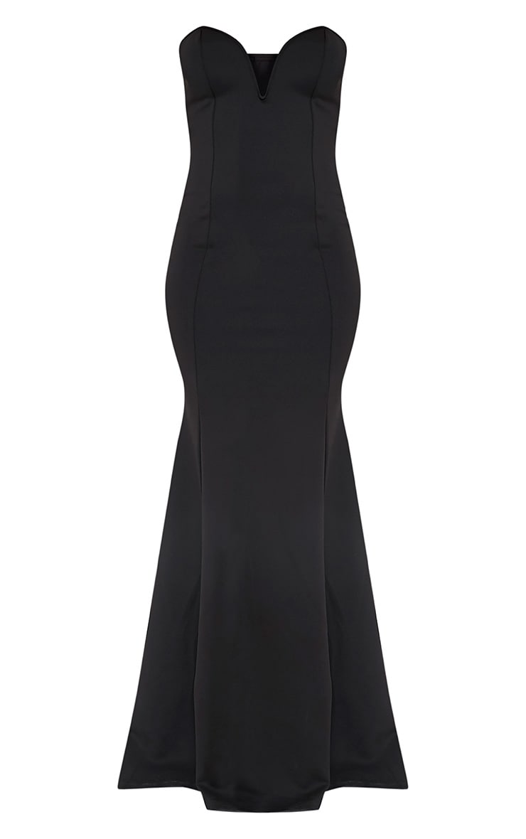 Wendie Black Sweetheart Fishtail Maxi Dress 3