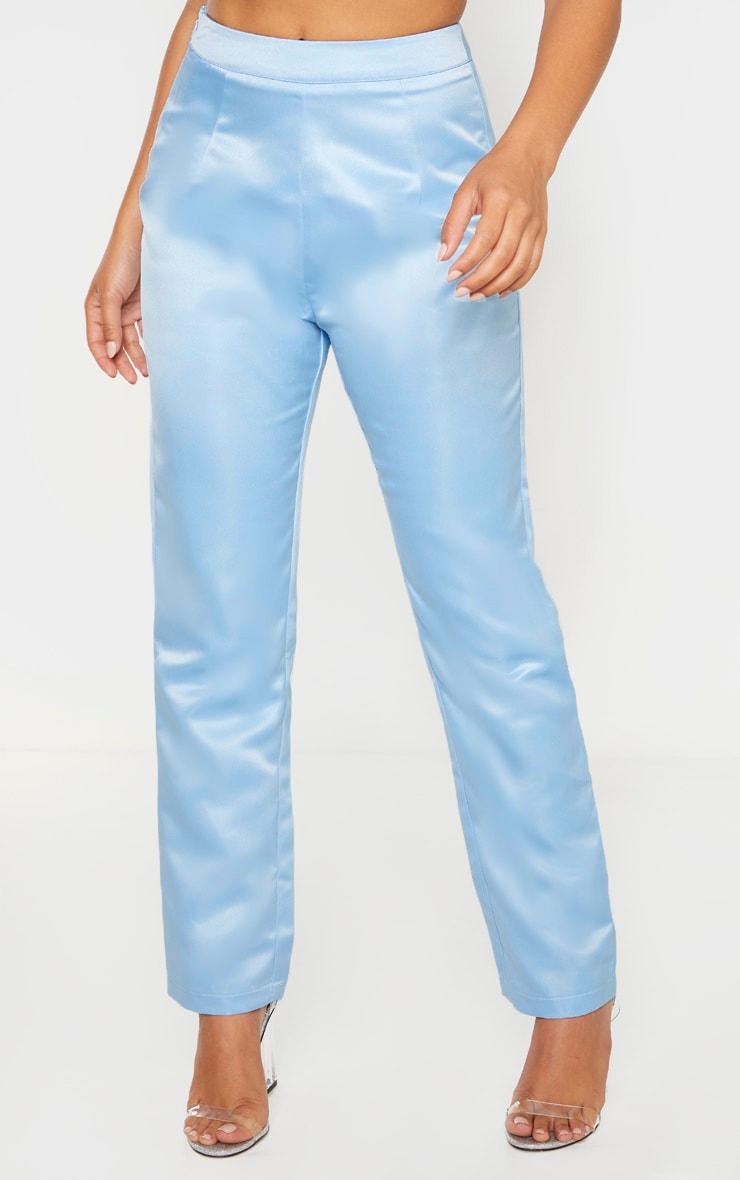 Petite - Pantalon skinny style tailleur bleu cendré  2