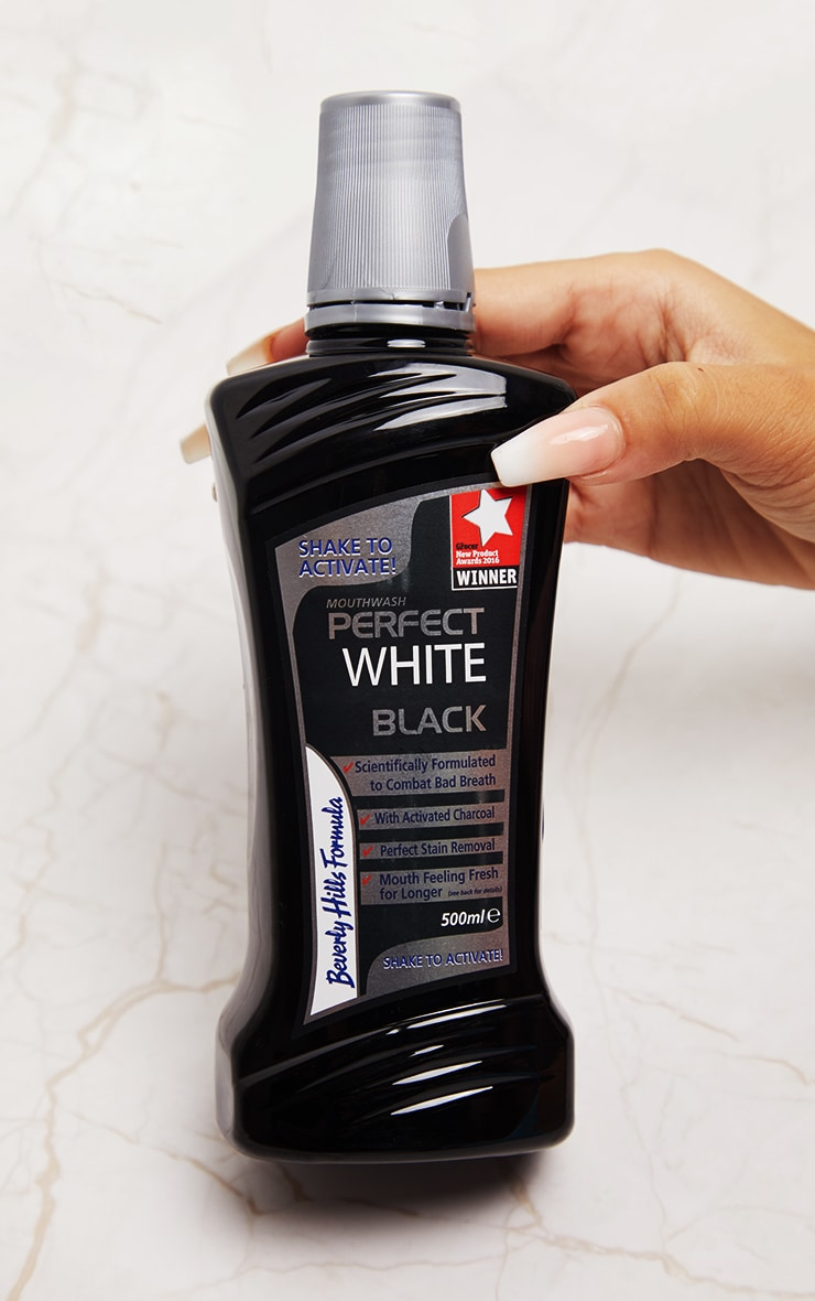 Beverly Hills Formula Perfect White Black Mouthwash 500ml 2