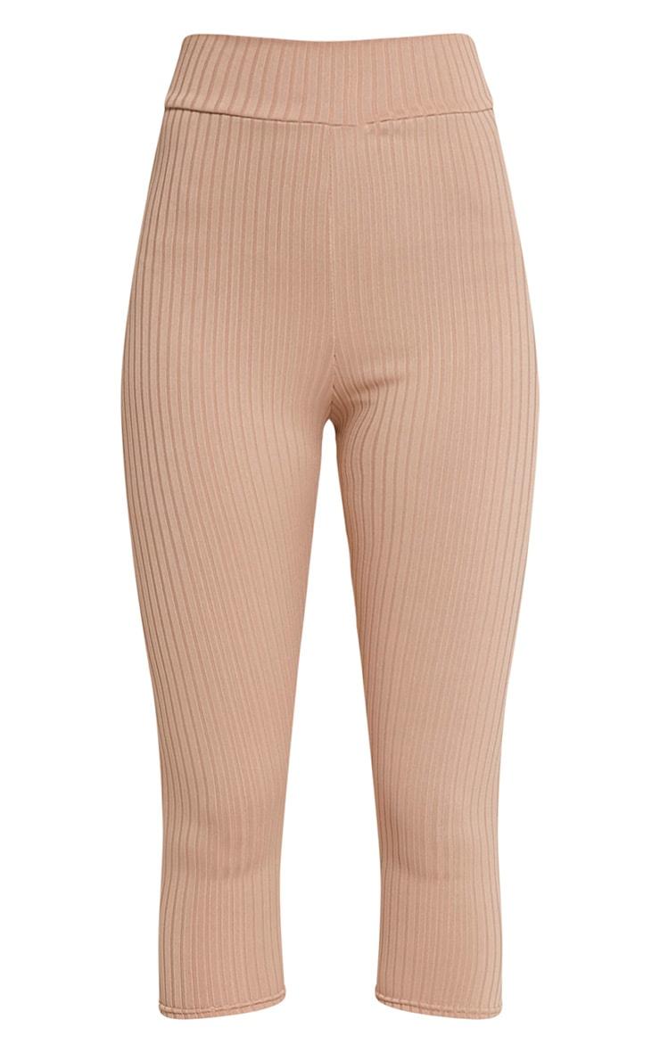 Harlie legging taille haute côtelé court gris pierre 3