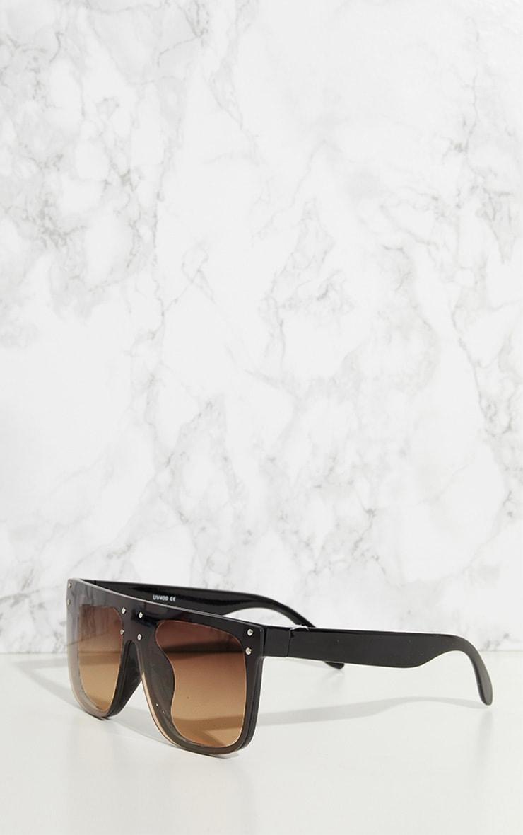 Black Flat Top Edge Sunglasses 3