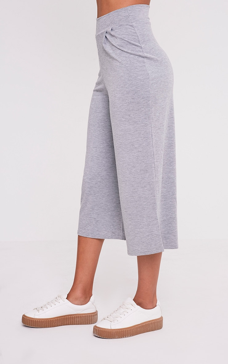 Basic jupe-culotte grise 4