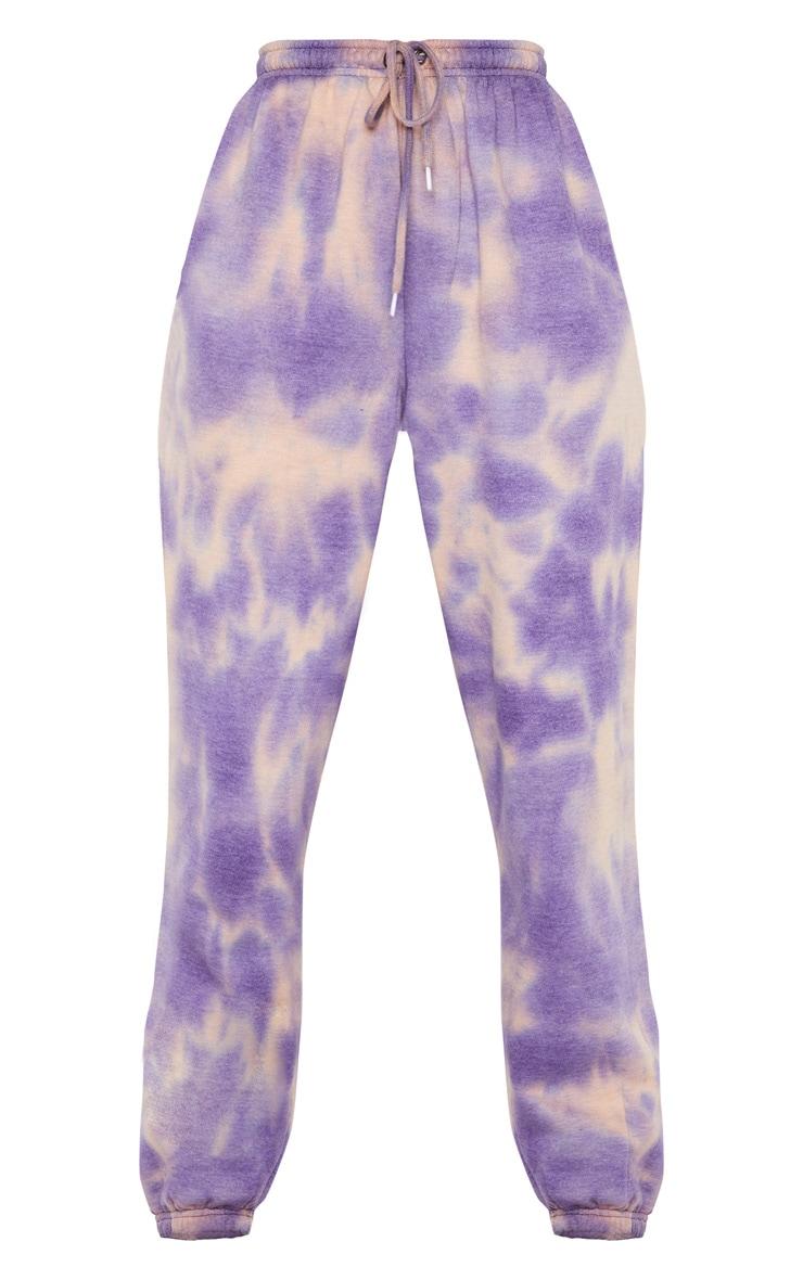 Purple Acid Wash Casual Joggers 5