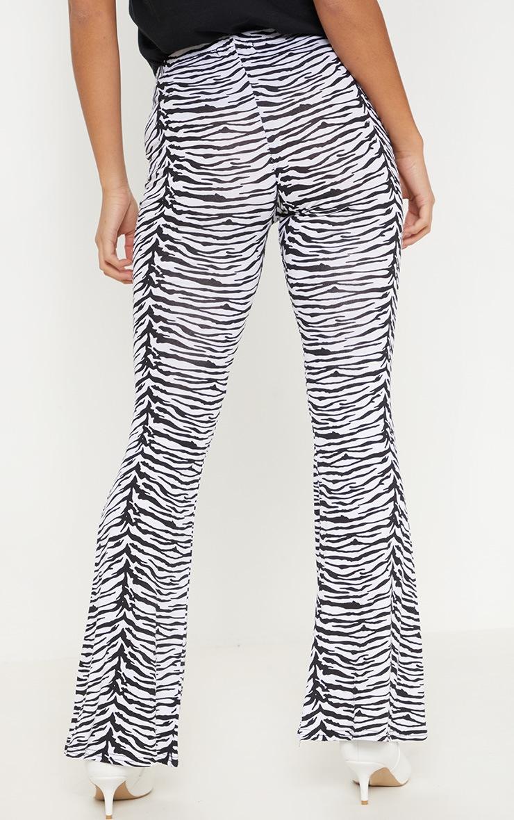 Petite Zebra Print Flare Trousers 4