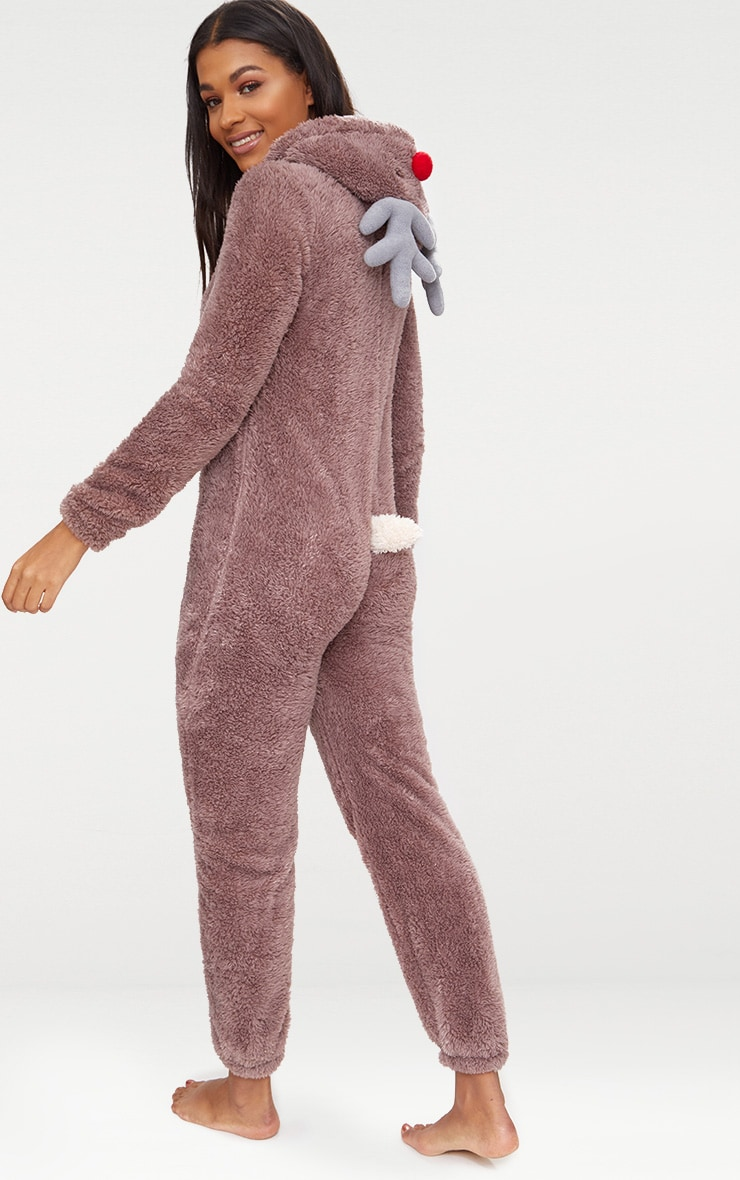 Brown Reindeer Onesie 2