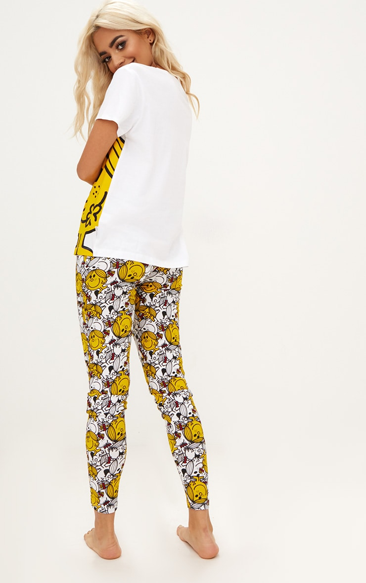 White Little Miss Sunshine Legging PJ Set 2