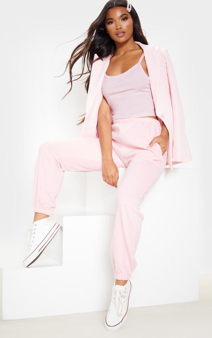 Basic Baby Pink Rib Strappy Vest 4