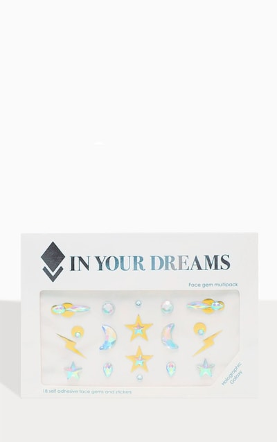 In Your Dreams Holographic Galaxy Face Jewel