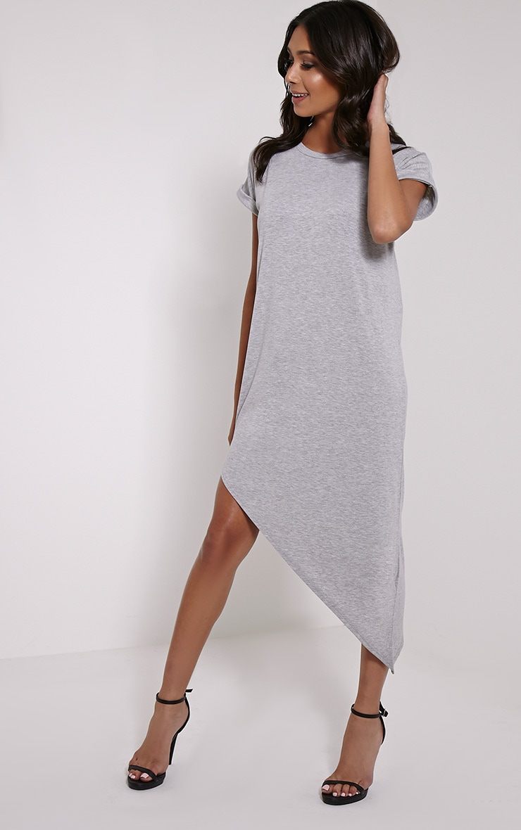 Nolah Grey Asymmetric T-Shirt Dress 3