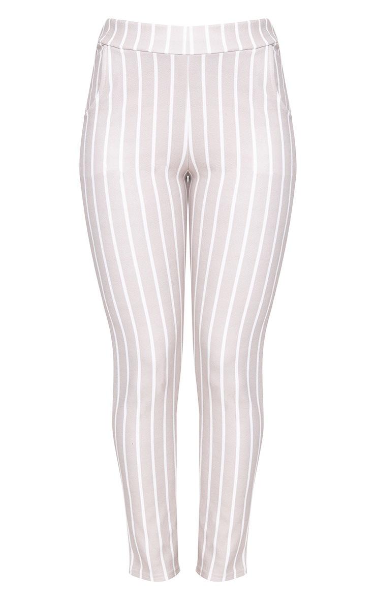 Stone Stripe Skinny Trousers 3