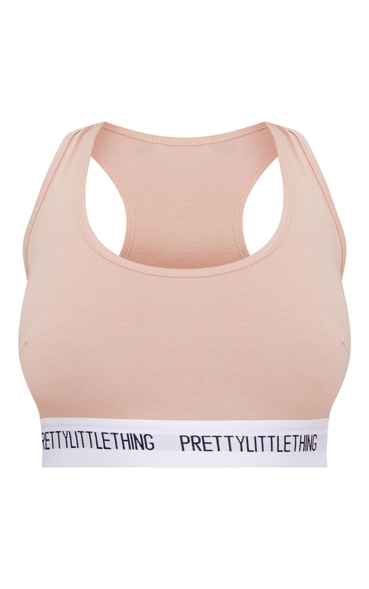 PRETTYLITTLETHING Nude Sports Bra 4