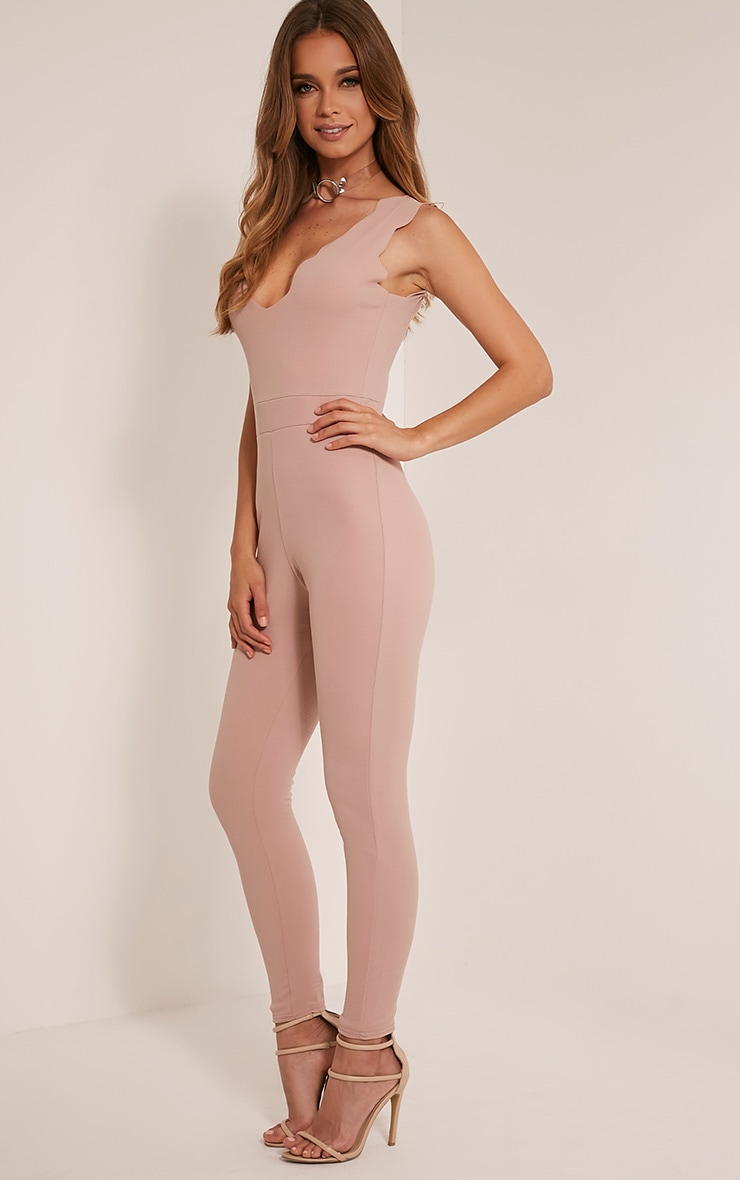 Lindiana Stone Scallop Detail Jumpsuit 5