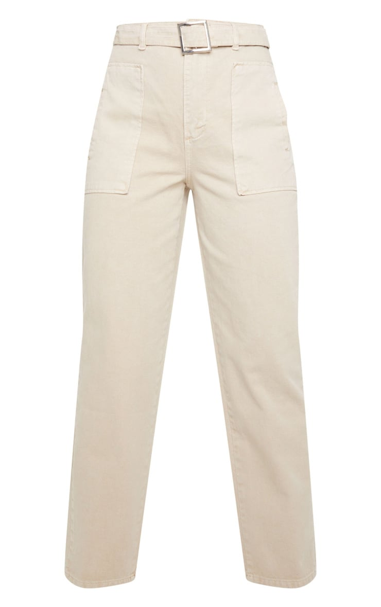 Washed Stone Belted Balloon Jeans 5