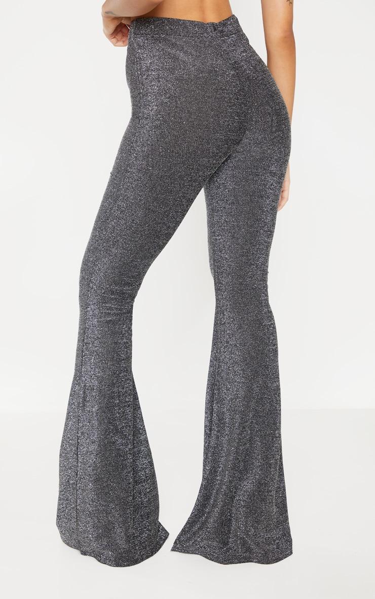 Silver Glitter Wide Leg Pants 4