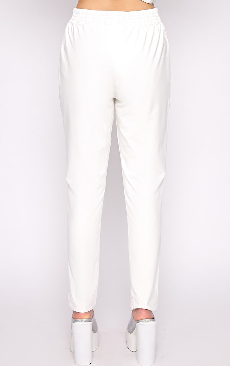 Addison White Leather Jogger 2