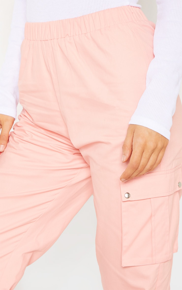 Tall Pink Pocket Detail Cargo Trousers 5
