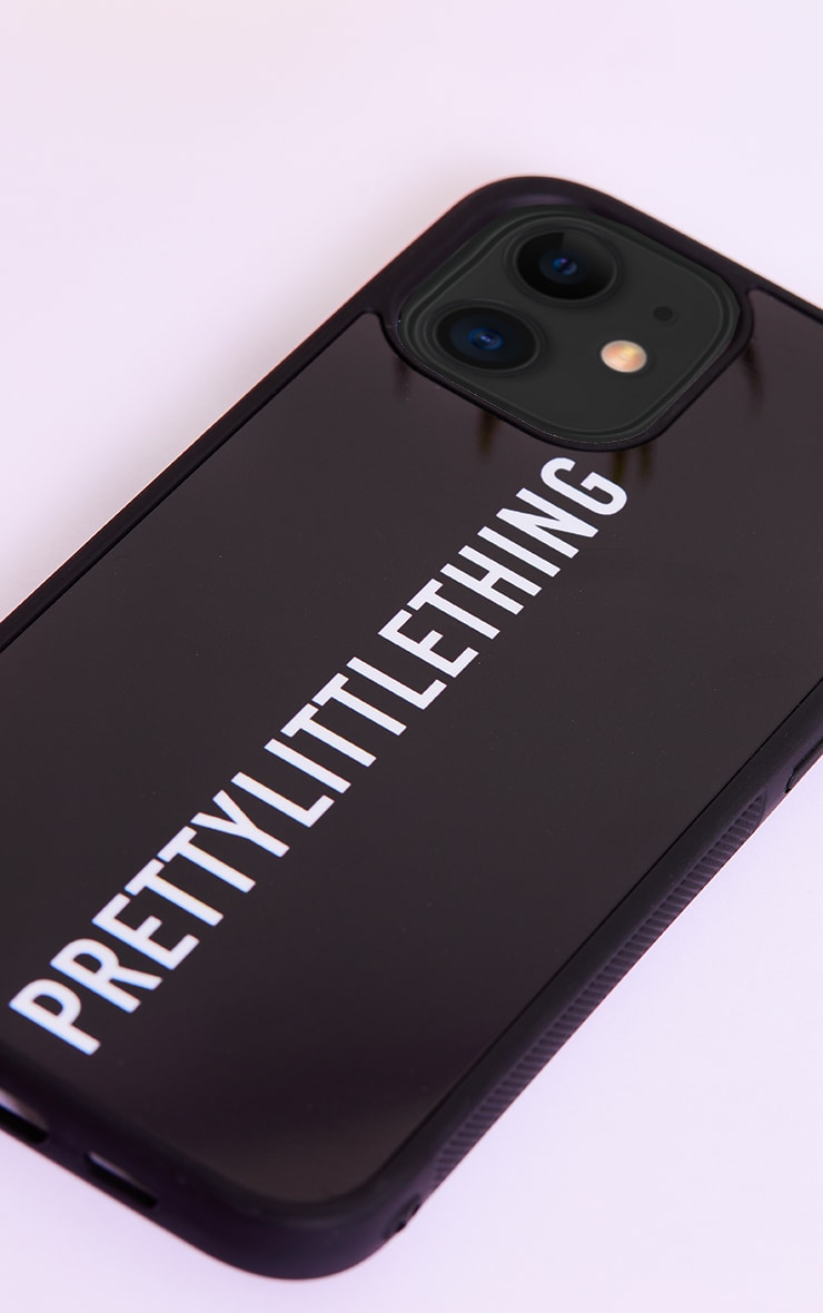 PRETTYLITTLETHING Black Logo iPhone 12 Pro Max Phone Case 3