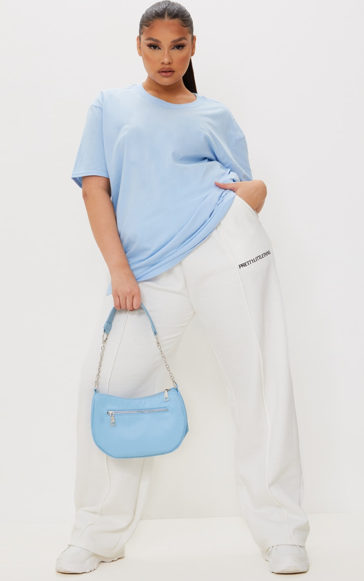 Plus Ultimate Light Blue Oversized T Shirt 1