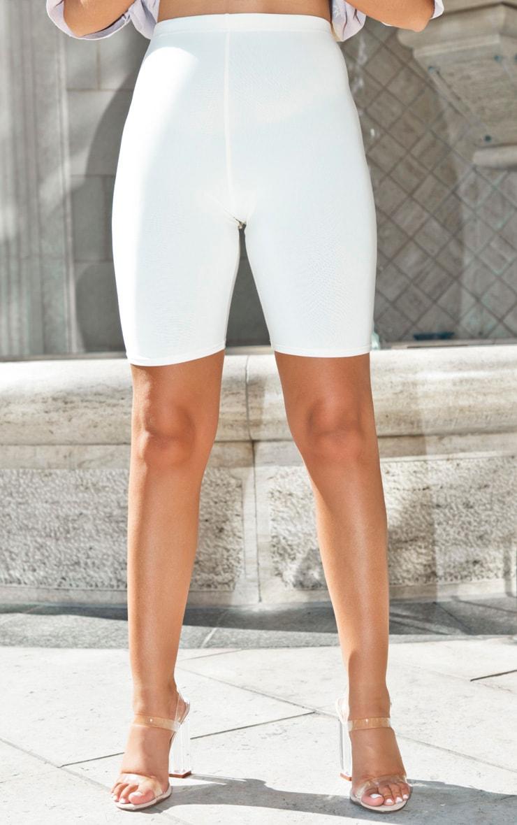 Short-legging écru taille haute 2