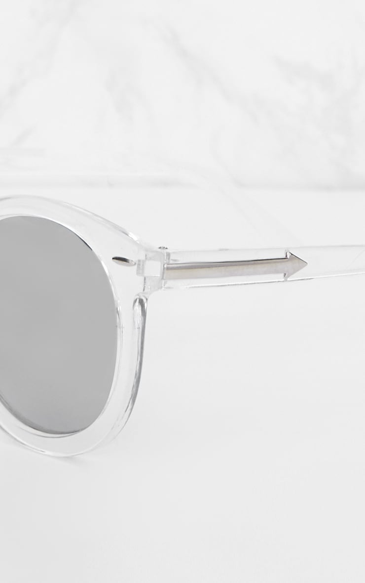 Clear Acrylic Frame Rounded Sunglasses 3